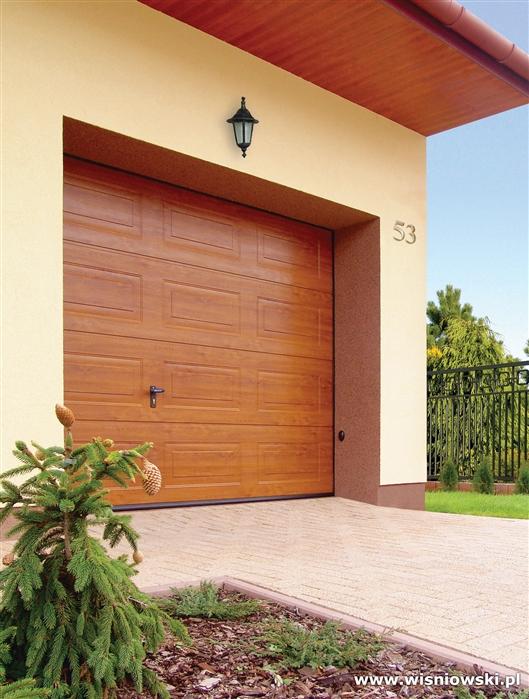 Brama garażowa segmentowa UniPro - Złoty dąb