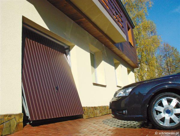 Brama garażowa uchylna NOVUM - RAL 8017