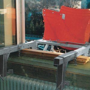 Konstrukcja nośna typ M ze wspornikami okiennymi