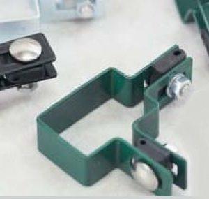 Obejma montażowa narożna zielona RAL6005